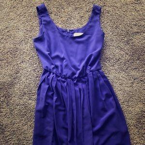 Calvin Klein purple dress with pockets . Size L